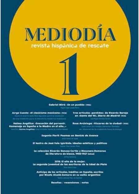 Mediodía. Revista hispánica de rescate. 1