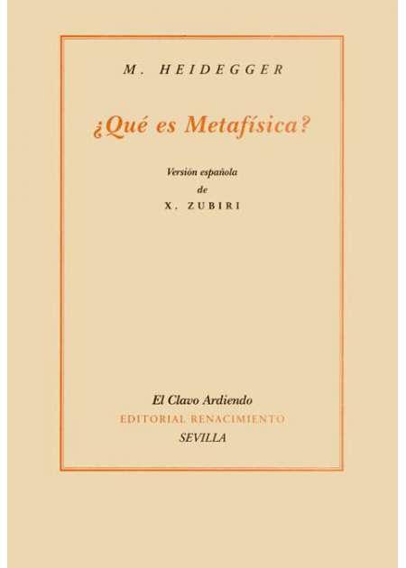 ¿Qué es metafísica?