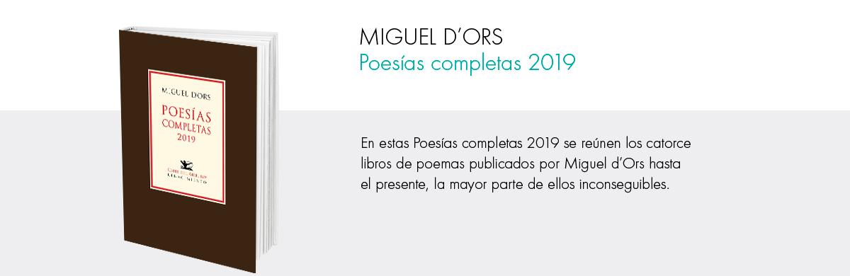 Poesías completas Miguel d'Ors